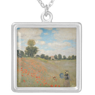 Claude Monet | vildvallmor, nära Argenteuil Silverpläterat Halsband