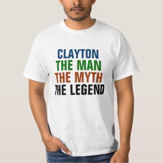 Clayton manen, mythen, legenden t-shirt