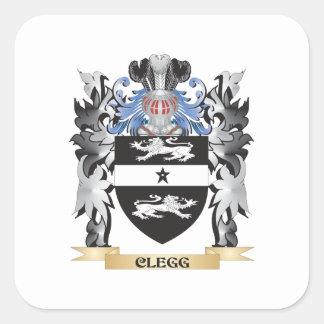 Clegg vapensköld - familjvapensköld fyrkantigt klistermärke