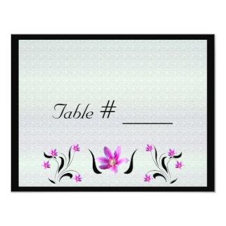Clematis på kort för ställe för bord för Stoney 10,8 X 14 Cm Inbjudningskort