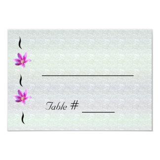 Clematis på kort för ställe för Stoney vägbröllop 8,9 X 12,7 Cm Inbjudningskort