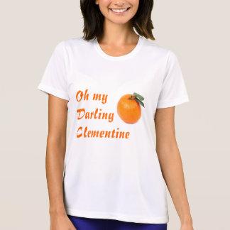 clementinekvinna skjorta t-shirt