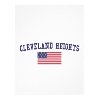 Cleveland Heights US flagga Brevhuvud