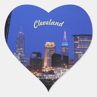 Cleveland klistermärke för hjärta för Ohio