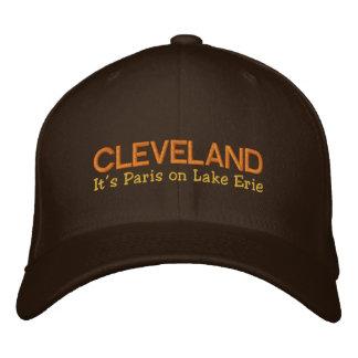 Cleveland OH som det är Paris på Lake Erie, Broderad Keps