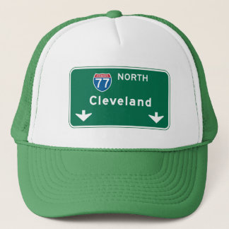 Cleveland OH vägmärke Keps