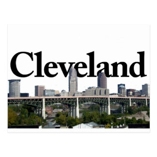 Cleveland Ohio horisont med Cleveland i himmlen Vykort