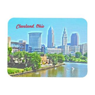 Cleveland Ohio River beskådar (måla verkställer), Magnet