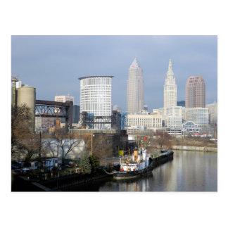 Cleveland Ohio River beskådar vykortet Vykort