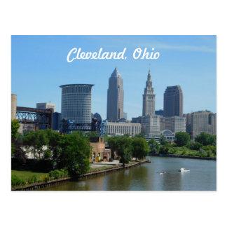 Cleveland Ohio River horisontvykort Vykort