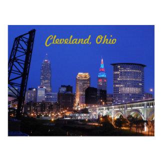 Cleveland vykort för horisont Ohio för västra sida