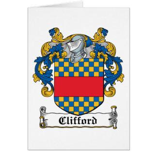 Clifford familjvapensköld hälsningskort