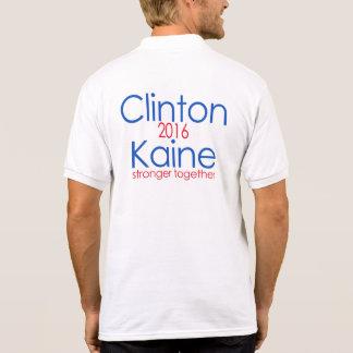 Clinton starkare Kaine 2016 tillsammans Polotröja