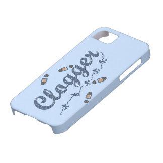 Clogger dansare skor att stoppa till blått iPhone 5 Case-Mate cases
