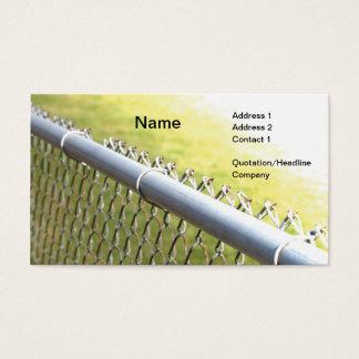 closeupen specificerar av en metall kedjar visitkort