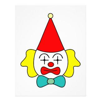 Clown - rolig framsida brevhuvud