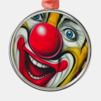 Clown Rund Silverfärgad Julgransprydnad