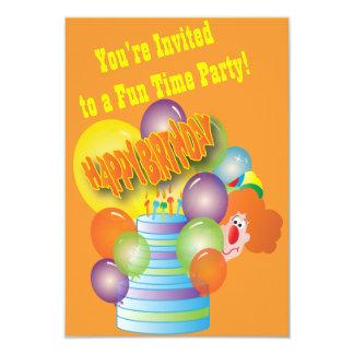 Clownbarnfödelsedagsfest 8,9 X 12,7 Cm Inbjudningskort