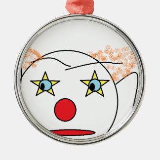 Clownen skissar julgransprydnad metall