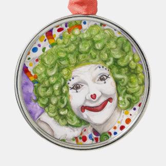 Clownen stämm Marranconi - åtstramning Rund Silverfärgad Julgransprydnad