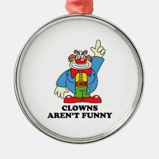 Clowner är inte roliga julgransprydnad metall