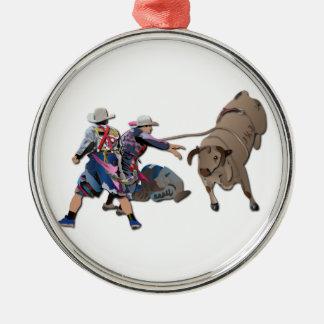 Clowner och Bull-2 utan text Julgransprydnad Metall