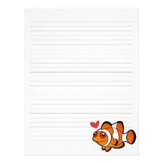 Clownfish kärlek brevhuvud