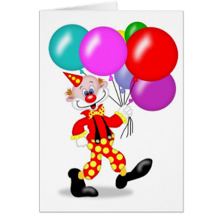 Clownpartyinbjudan - TBA Hälsningskort