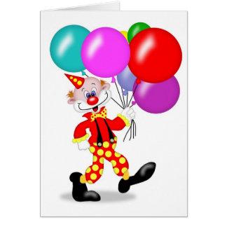Clownpartyinbjudan - TBA Kort