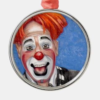 ClownRyan hårkammar Rund Silverfärgad Julgransprydnad