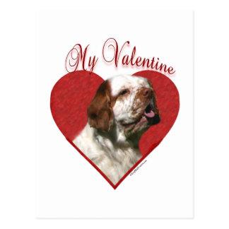 Clumber Spaniel min valentin Vykort