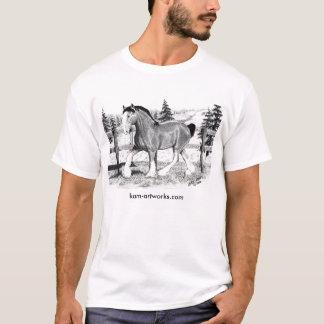 Clydesdale i fält, kam-artworks.com t shirt