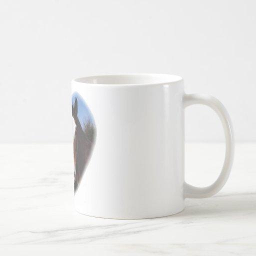 Clydesdales i hjärta kaffe mugg