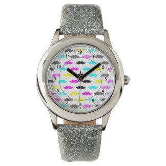 CMYK-mustaschmönster Armbandsur