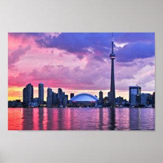 Cn-torn: Beskåda från centrerar ön Toronto Poster