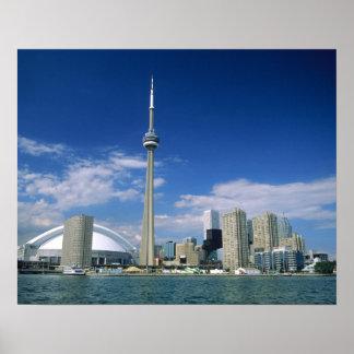 Cn-torn och Skydome i Toronto, Ontario, Poster