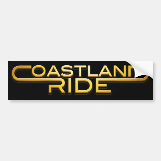 Coastland Ride - Name logo Bildekal