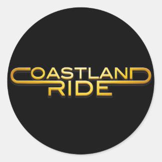 Coastland Ride - name logo Runt Klistermärke