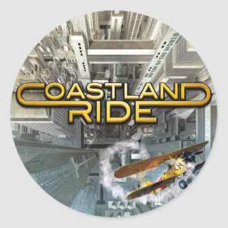 Coastland Ride - On Top Of The World CD Cover Runt Klistermärke