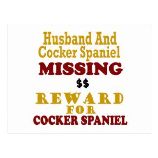 CockerspanielSpaniel saknad belöning för make fö