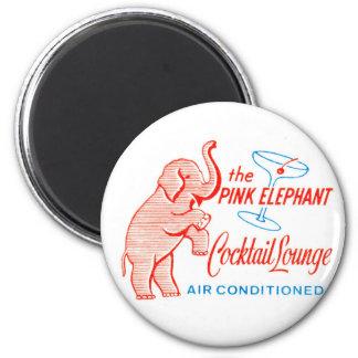 Cocktailbar för elefant för hötorgskonstvintage ro magnet