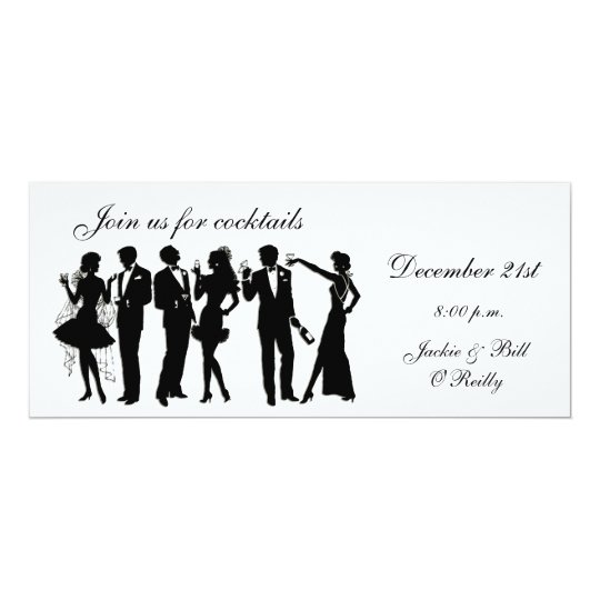 Cocktailpartyfolk 10,2 X 23,5 Cm Inbjudningskort