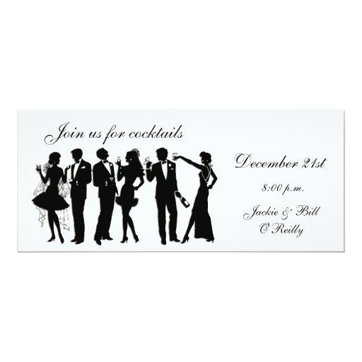 Cocktailpartyfolk Personliga Inbjudan