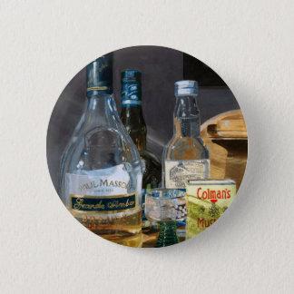 Coctailar och senap standard knapp rund 5.7 cm