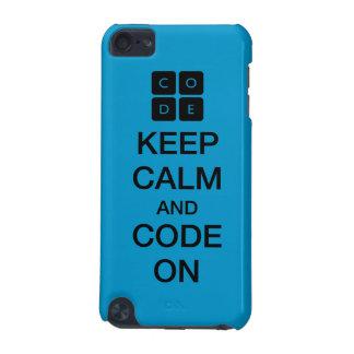 """Code.org """"behållalugn och kodifierar på """", iPod touch 5G fodral"""