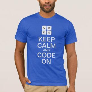 """Code.org """"behållalugn och kodifierar på"""" T-tröja Tshirts"""