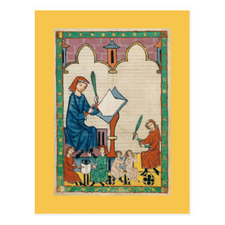 Codex Manesse Vykort