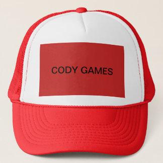 Cody spelar den officiella hatten keps