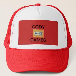 Cody spelar den officiella hatten truckerkeps