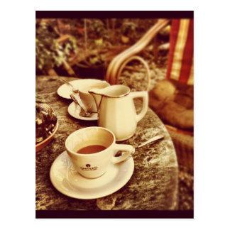 Coffee shopbord vykort